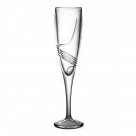 Set of crystal champagne glasses 6 pcs