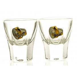 Wedding Crystal Vodka Glasses, Set of 2 04566