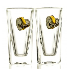 Wedding Crystal Vodka Glasses, Set of 2 05885