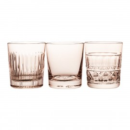 Painted Crystal Whisky Glasses, Set of 3 14693
