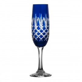 Painted Crystal Champagne Glasses, Set of 6 10502