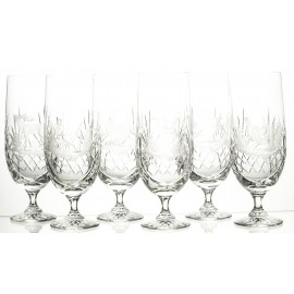 Crystal Engraved Beer Glasses, Set of 6 (03540)
