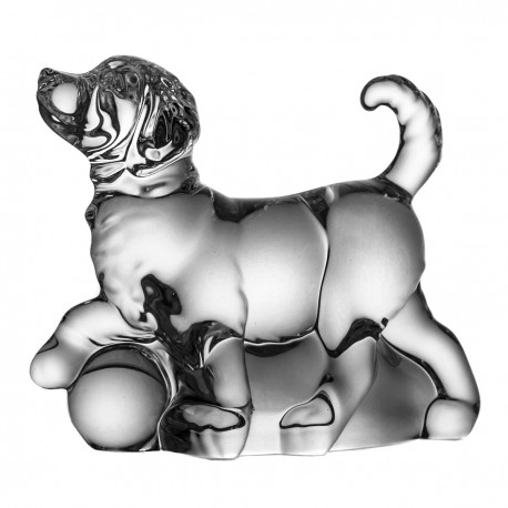 Crystal Dog Paperweight