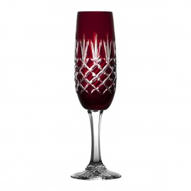 Painted Crystal Champagne Glasses, Set of 6 10496
