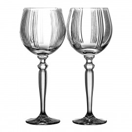 Crystal Red Wine and Water Glasses Set of 2