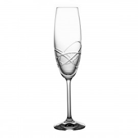 Crystal Champagne Glasses, Set of 6 04273