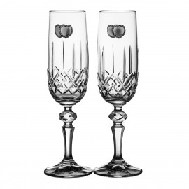 Wedding Crystal Champagne Glasses Set of 2