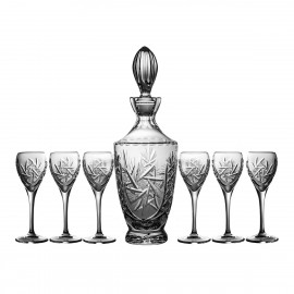Crystal Sherry Decanter and Glasses Set 03441