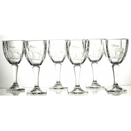 Engraved Red Wine and Water Glasses, Set of 6 (02501)