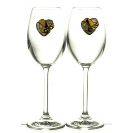 Wedding Crystal Wine Glasses, Set of 2 (13180)
