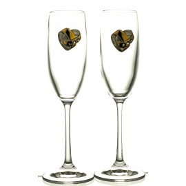 Wedding Crystal Champagne Glasses, Set of 2 (13179)