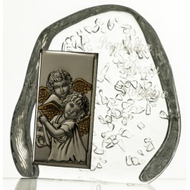 Crystal Paperweight with Angels 3790